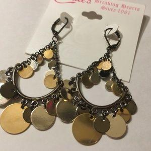 """Candie's 3"""" Long Jingly Disc Fashion Earrings"""
